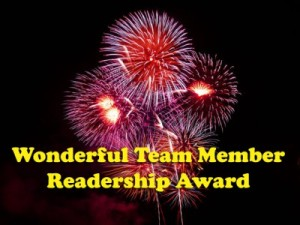 Wonderful Team Member Readership Adward